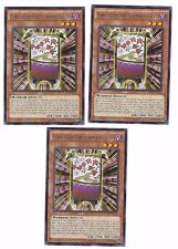 X3 YUGIOH FLOWER CARDIAN CHERRY BLOSSOM WITH CURTAIN RATE-EN012 COM 1ST IN HAND