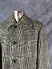 Original Vintage Men's Pure Wool Coat Jacket By Invertere Size 44 XL Chest 70's