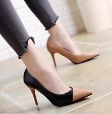 Fashion Ladies Elegant Shoes Pointed Toe PU Leather Stiletto High Heels OL Pumps