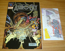 Astro City #½ VF/NM platinum variant with wizard COA kurt busiek - homage comics