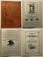 Original Prospekt Preisliste I.C. Hauptmann & Co. um 1895 Technik Katalog sf