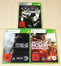 3 XBOX 360 SPIELE SAMMLUNG MEDAL OF HONOR WARFIGHTER AIRBORNE - EGO SHOOTER