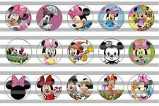 (60) Minnie Mouse v3 Bottle Cap Image Pre-Cut 1 inch