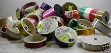 31 Rolls Of Asst Hallmark Ribbon Curling Fabric Sayings Patterns Bow Craft Gift