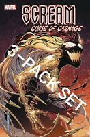 SCREAM CURSE OF CARNAGE #1 3-PACK 1ST VARIANT 11/27 MARVEL NM 🔥 SPIDER-MAN