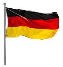 TecTake Aluminium Fahnenmast Deutschlandflagge
