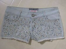 Hot Kiss Jean Shorts Embellished in Rhinestones and Studs / Gorgeous / 5 / BNWOT