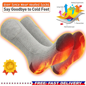 Rechargable Battery Electric Heated Socks Boot Feet Warmer Winter Outdoor Gift