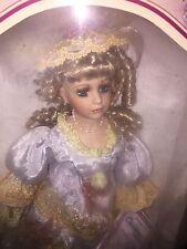 christina verdi porcelain doll limited 2005 edition blonde hair, blue eyes