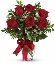 Imagen Comestible Bouquet Rosas Rojas Con Paral Fiesta Celebración 12 Unidades