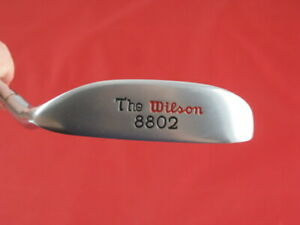 """THE WILSON 8802 RED LETTER 35"""" PUTTER HEAD SPEED STEEL SHAFT VERY GOOD"""