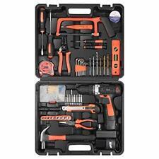 Letton Power Tool Combo Kit 16.8V Drill 60Pc Driver Set Home Repair Gear Diy