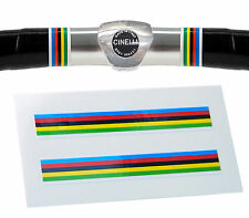 World Champion Rainbow Stripes Handlebar Finishing Tape Retro Fixie Racer