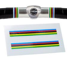 World Champion Rainbow Stripes Handlebar Finishing Tape Retro Fixie Racer