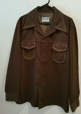 Vintage Western 1970s By Farah Men's Polyester blazer, Jacket Made In USA retro