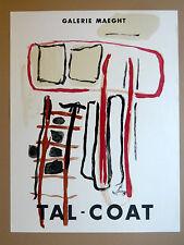 TAL COAT Pierre Affiche originale litho Finistère Bretagne Original Poster