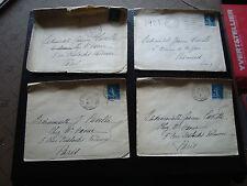 FRANCE - 4 enveloppes 1921 (cy60) french