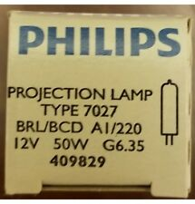 PHILIPS Projection Lamp TYPE 7027 BRL/BCD AI/220 12 V 50W G6.35