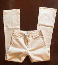 ANN TAYLOR LOFT JEANS FLARE 4/27 BRIGHT WHITE DENIM Jeans NWT $79