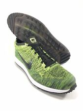 Nike Flyknit Racer G Mens Size 7 Golf Shoes 909756-700 Green Volt Sequoia Black