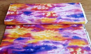 Benartex Atmosphere cotton print fabric Sky Sunset Clouds Sun Novelty Scenic