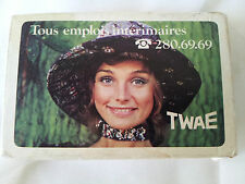 Jeu de cartes à jouer TWAE Héron vintage playing card Travail temporaire