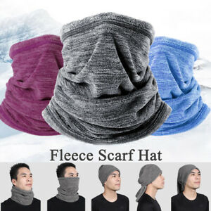 Women Men Winter Thermal Fleece Snood Scarf Ski Balaclava Neck Warmer Beanie Hat
