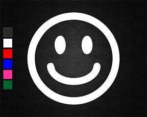 SMILEY FACE RAVE VINYL DECAL STICKER BEDROOM/CAR/WALL/DOOR/LAPTOP/TABLET/WINDOW