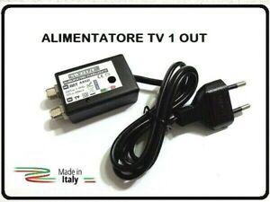 ALIMENTATORE RETRO TV PER AMPLIFICATORE DIGITALE TERRESTRE 1 USCITA 12V 220mA F