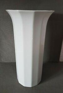 Porzellan Vase Rosenthal Studio Linie Polygon Weiß Höhe 25cm TOP (i5)A