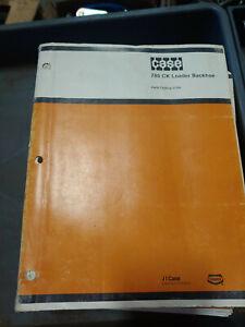 CASE 780 CONSTRUCTION KING LOADERS BACKHOE PARTS CATALOG J1164