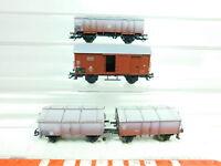 BT654-0,5# 3x Märklin H0/DC Güterwagen DB NEM KK: Klmm 36 + Gr 20 + KK 15