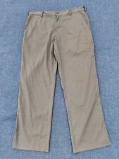 Mens Nike Golf Pants 34X30 Khaki Dri-Fit Flat Front Dress Pants Lightweight