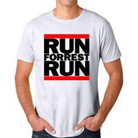 Run Forrest Run Forrest Gump Men's White T-Shirt Size S M L XL 2XL 3XL