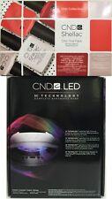 CND SHELLAC SET ~ LED LIGHT LAMP 9200 + CHIC TRIAL KIT Soak-Off Gel Polish NIB