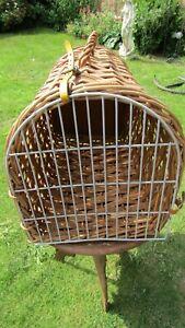 """Domed Wicker Pet Carrier Pet Basket - 20.5"""" Long"""