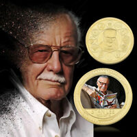 The Man Stan Lee Moneda conmemorativa chapada en oro de de Marvel para fanáticos