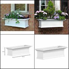 yorkshire 12 in. x 36 in. vinyl window box   white planter outdoor mayne flower