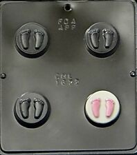 Baby Feet Oreo Cookie Chocolate Candy Mold Baby Shower  1672 NEW
