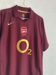Arsenal London Highbury 2005 2006 Nike Home Football Shirt Soccer Jersey SIZE L