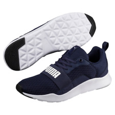 Puma Wired Navy Blue White Running Casual Trainers Size UK 8 9 10 11