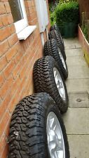 Land Rover Discovery Defender Set Of 5 Boost Alloys And Tyres 235 85 16 & Nuts