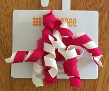 gymboree curly clips new nwt magenta pink white