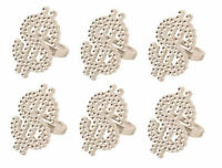 6 Silver Dollar Rings - Finger Pinata Loot/Party Bag Fillers Wedding