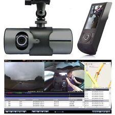 "HD Dual Lens Vehicle Car Camera Video DVR Dash Cam G-Sensor 2.7"" LCD Screen@"