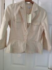 BNWT VINTAGE LAURA ASHLEY CREAM LADIES JACKET FULLY LINED SIZE 14 RRP £125.00