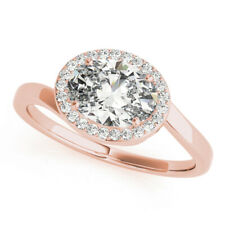 Oval Cut 1.75 Ct Diamond Engagement Solitaire Ring 14K Rose Gold Rings 7 6.5 8