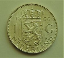 1966 Netherlands 1 G Silver Coin