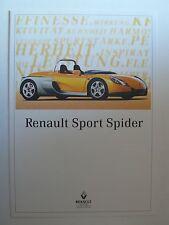 Prospekt Renault Sport Spider, 4.1996, 8 Seiten, Innenseiten ergeben ein Poster