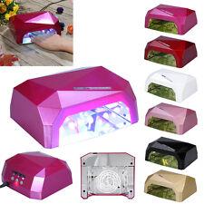 36W LED CCFL Pro Séchoir à Ongles Lampe UV Sèche Nail Dryer Manucure Outil FRX